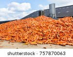 heap of orange carrots as... | Shutterstock . vector #757870063