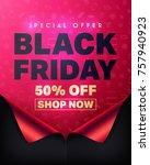 special offer black friday 50 ... | Shutterstock .eps vector #757940923