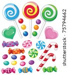 illustration of a set of sweets | Shutterstock .eps vector #75794662