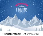 winter mountain landscape...   Shutterstock .eps vector #757948843