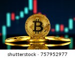 physical version of bitcoin ... | Shutterstock . vector #757952977