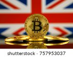 physical version of bitcoin ... | Shutterstock . vector #757953037