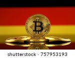 physical version of bitcoin ... | Shutterstock . vector #757953193