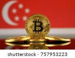physical version of bitcoin ... | Shutterstock . vector #757953223