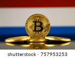 physical version of bitcoin ... | Shutterstock . vector #757953253