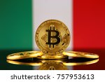 physical version of bitcoin ... | Shutterstock . vector #757953613