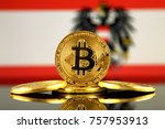 physical version of bitcoin ... | Shutterstock . vector #757953913