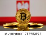 physical version of bitcoin ... | Shutterstock . vector #757953937