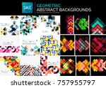 collection of geometric... | Shutterstock .eps vector #757955797