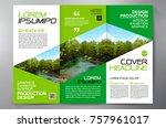 business brochure. flyer design.... | Shutterstock .eps vector #757961017