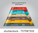 infographic template. vector... | Shutterstock .eps vector #757987333