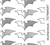 bat vector illustration. cute... | Shutterstock .eps vector #757989097