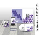 business stationary template... | Shutterstock .eps vector #757993933