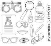 set of medical optometry... | Shutterstock .eps vector #757997557