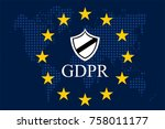 general data protection... | Shutterstock .eps vector #758011177
