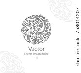 vector emblem. can be used for... | Shutterstock .eps vector #758014207