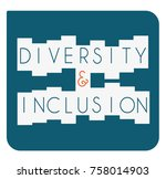 diversity and inclusion icon | Shutterstock .eps vector #758014903