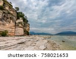 a view of lake garda from... | Shutterstock . vector #758021653