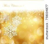 golden blurry light dots...   Shutterstock .eps vector #758034877