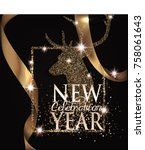 new year background with... | Shutterstock .eps vector #758061643