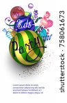 new year kids' party with... | Shutterstock .eps vector #758061673