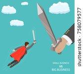 small business vs big flat...   Shutterstock .eps vector #758079577