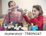 kids art workshop   Shutterstock . vector #758096167