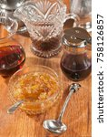 pantry of various syrups in... | Shutterstock . vector #758126857