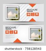 flyer banner or web header... | Shutterstock .eps vector #758128543