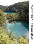 plitvice national park lakes | Shutterstock . vector #758130247