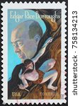 Small photo of Milan, Italy - October 22, 2017: Edgar Rice Burroughs on american postage stamp