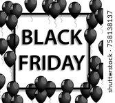 illustration of black frame... | Shutterstock . vector #758138137