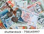 mauritius money mauritius rupee ...   Shutterstock . vector #758145997