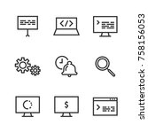 dev thin line icon. icon for... | Shutterstock .eps vector #758156053