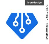 diamond microscheme icon | Shutterstock .eps vector #758176873