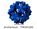 blue flower isolated on white.... | Shutterstock . vector #758181283
