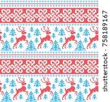winter festive christmas... | Shutterstock .eps vector #758189167