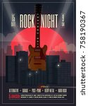 live concert rock night poster  ...