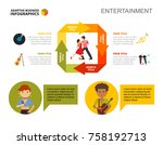 arrow diagram with four... | Shutterstock .eps vector #758192713
