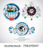 business set of infographics  | Shutterstock .eps vector #758195047