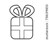 christmas gift box wrapped... | Shutterstock .eps vector #758199853