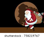 cartoon santa claus caught red... | Shutterstock .eps vector #758219767