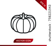 halloween pumpkin icon. holiday ... | Shutterstock .eps vector #758221543