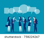 business corporate meeting.... | Shutterstock .eps vector #758224267