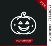 halloween pumpkin icon. holiday ... | Shutterstock .eps vector #758236723
