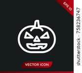 halloween pumpkin icon. holiday ... | Shutterstock .eps vector #758236747