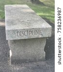 discipline  bench at west point | Shutterstock . vector #758236987