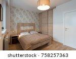 bedroom interior in new... | Shutterstock . vector #758257363