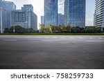 empty road with modern business ... | Shutterstock . vector #758259733