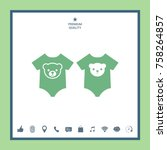 baby rompers icon   Shutterstock .eps vector #758264857